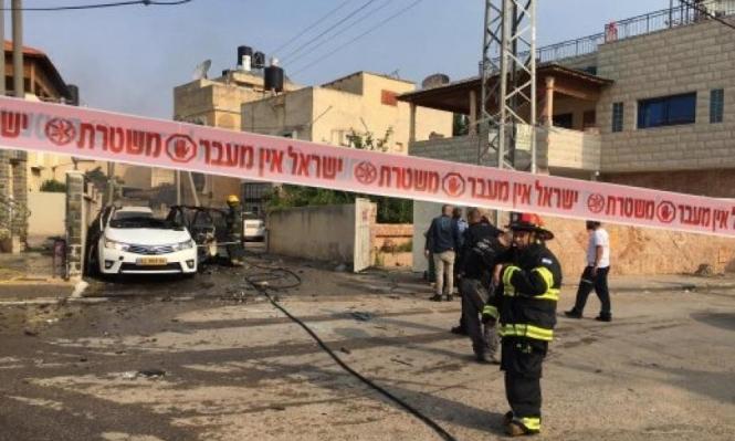 اللد: انفجار في سيارة