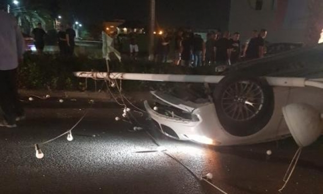 الطيرة: 3 إصابات إحداها خطيرة بحادث طرق
