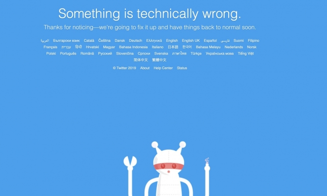 """خلل عالمي في موقع """"تويتر"""""""