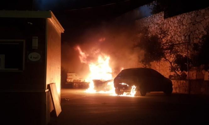 نحف: إضرام النار في سيارة