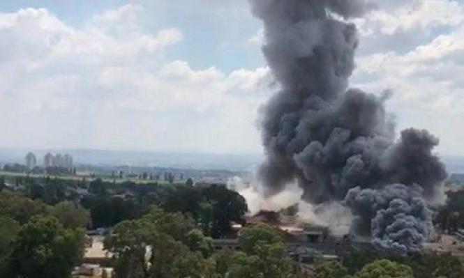 حريق بمستودع تابع للصناعات العسكرية الإسرائيلية