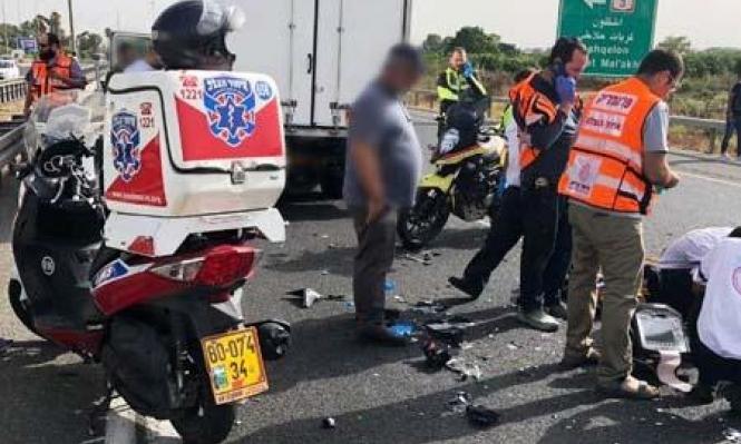 مصرع سائق دراجة نارية بحادث طرق جنوبي البلاد