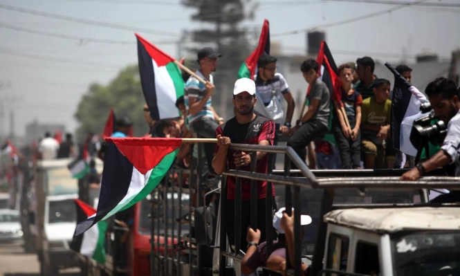"""غزة: شهيد و56 مصابا في """"جمعة لاجئي لبنان"""""""