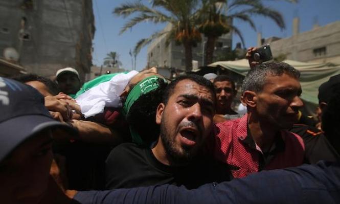 غزة: تشييع جثمان الشهيدالقرّا