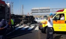 8 جرحى بانقلاب مركبة تابعة لمصلحة السجون قرب حيفا