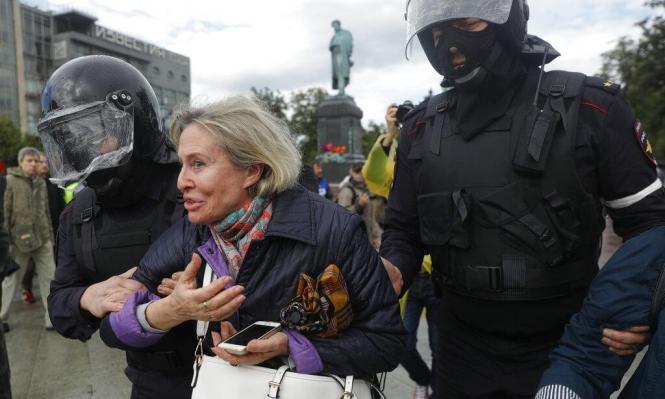 روسيا: اعتقال600 متظاهر بينهمزعيمة المعارضة