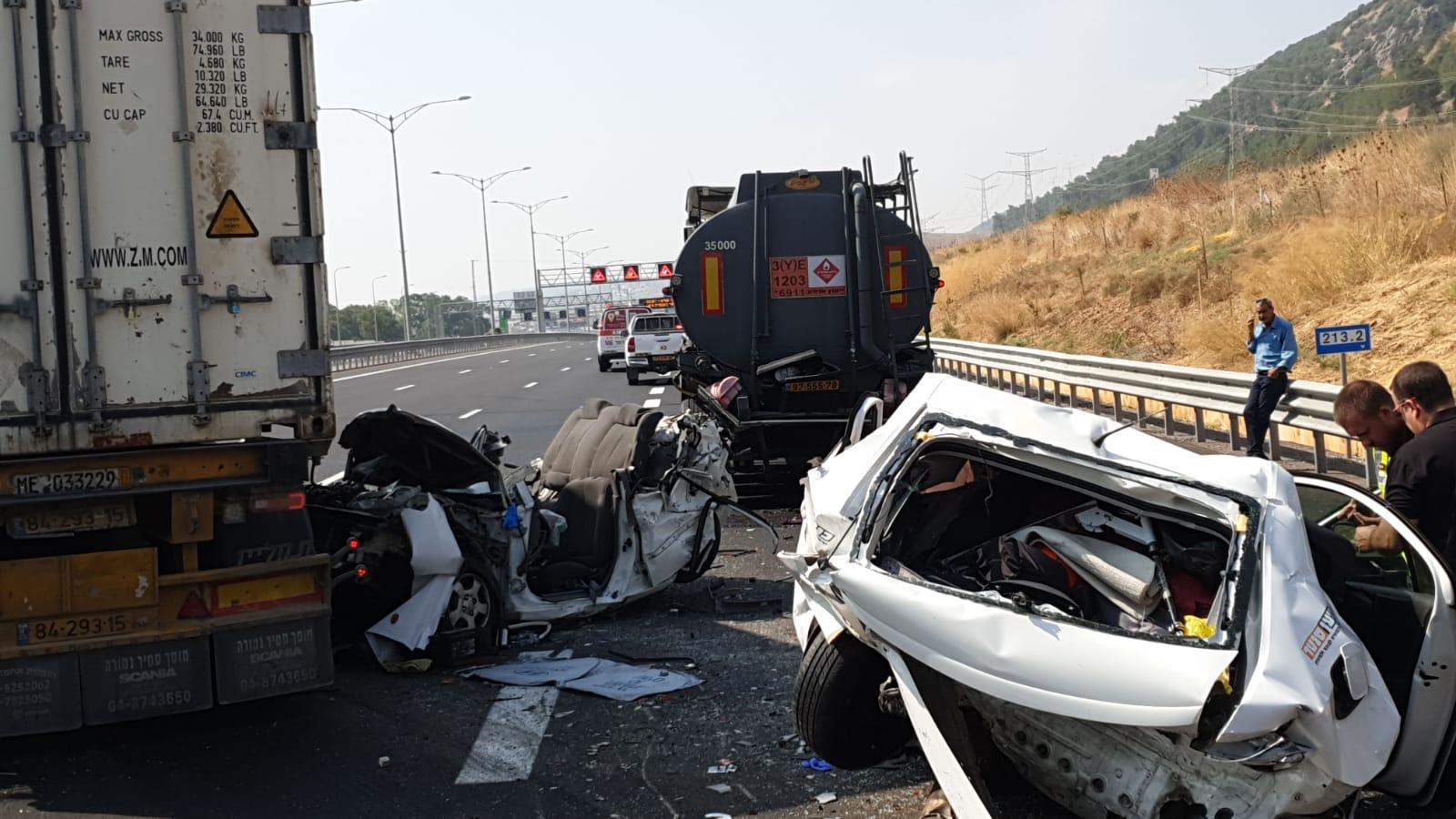 4 إصابات بينها خطيرة في حادث طرق قرب حيفا