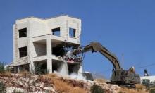 الاحتلال نفذ 43 عملية هدم بالضفة خلال تموز