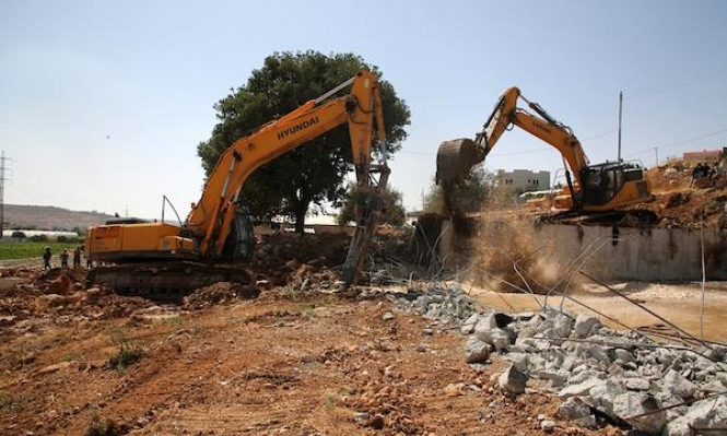 الاحتلال يهدم منزلا فلسطينيا قيد الإنشاء جنوبي الضفة