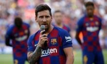 ميسي يتعرض لإصابة في تدريبه الأول مع برشلونة
