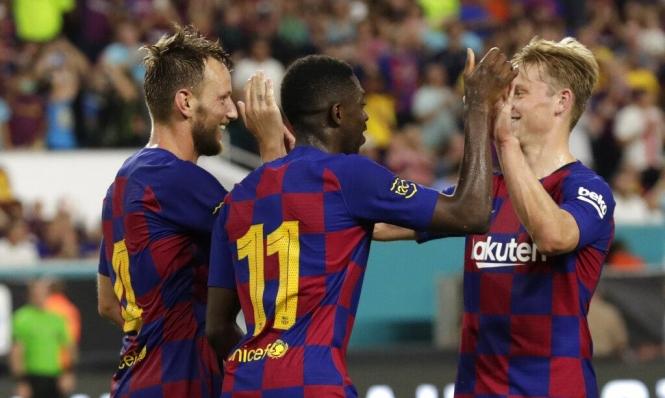 بدون ميسي.. برشلونة يتفوق على نابولي