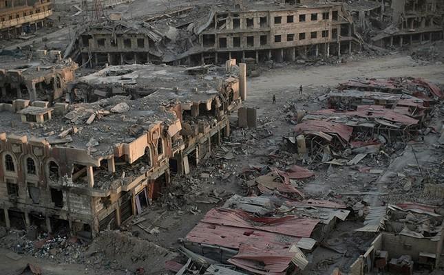 الدمار في الموصل بعد الحرب (أ ب)