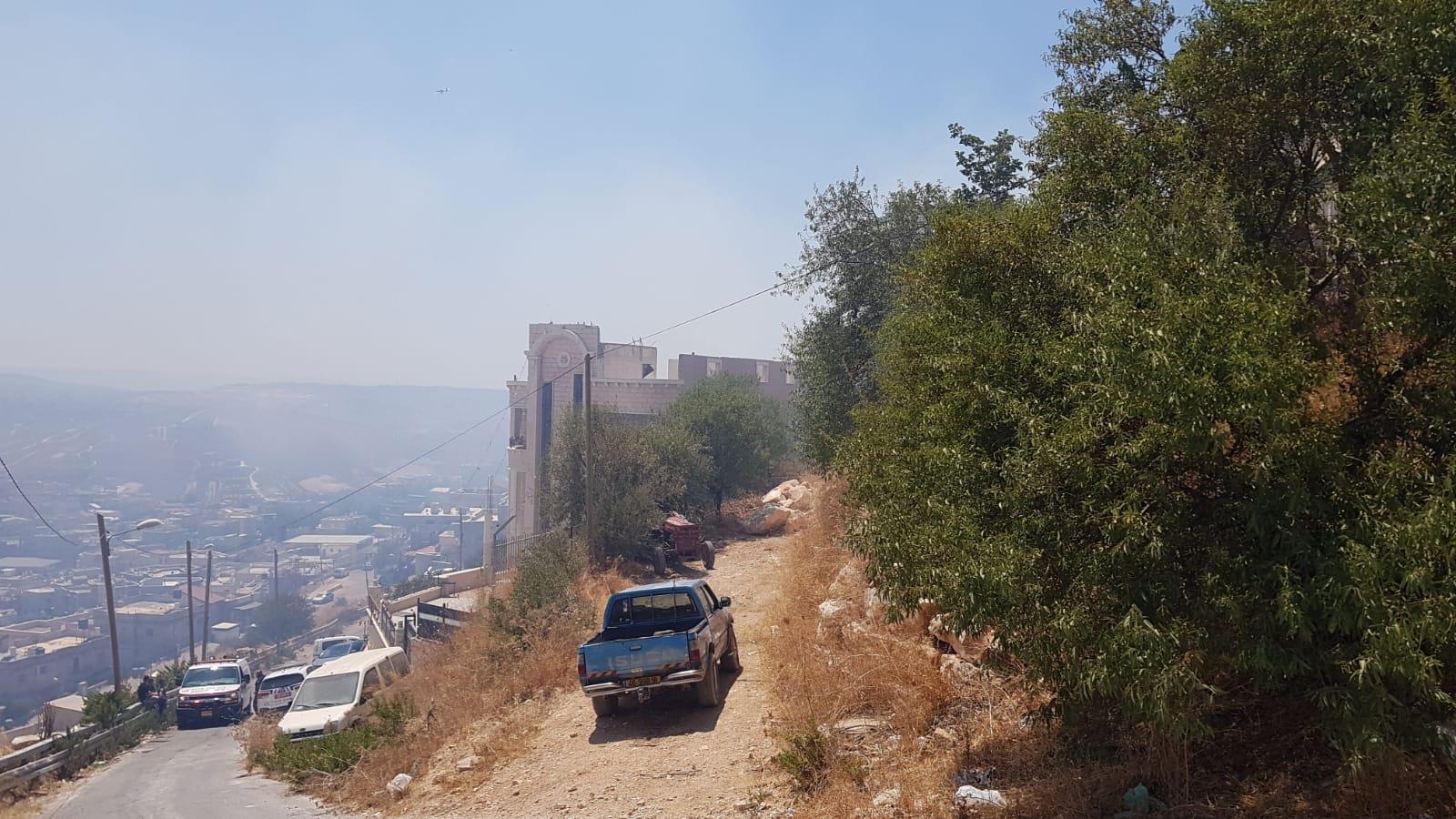 حريقان قرب منازل مأهولة في نحف وكفر كنا