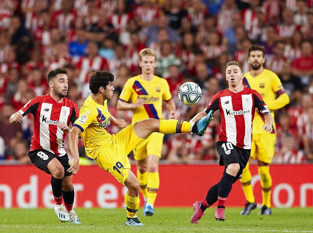 برشلونة يستهل الدوري بالخسارة أمام بيلباو