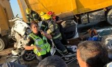 قرب اللقية: مصرع رجل وإصابة 8 آخرين في حادث طرق