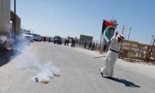 الاحتلال يعتدي على مظاهرة تضامنية مع الأسرى في سجون الاحتلال قرب رام الله