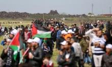 """غزة: 122 مصابا في جمعة """"لبيك يا أقصى"""""""