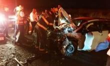 قُرب صفد: 12 مُصابا بينهم شاب بحالة خطيرة بحادث طرق