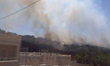 حرائق في أحراش قرب القدس وإخلاء 15 منزلا في المشهد