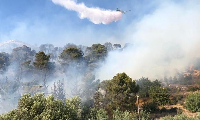 حريق في أحراش قرب صفورية وعيلوط