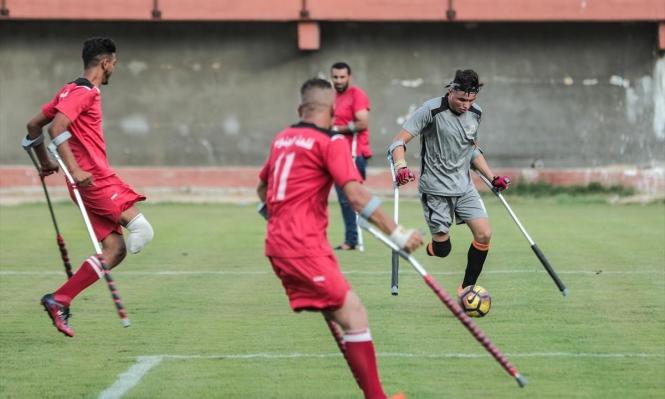 مبتورو الأقدام في غزة يخوضونأول بطولة كرويّة