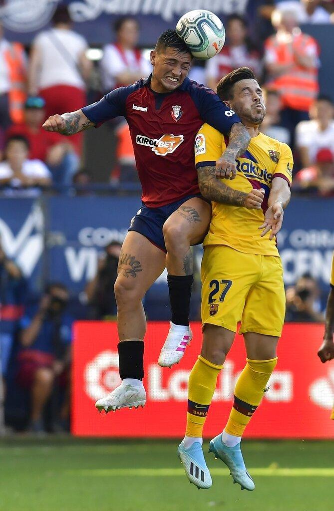 برشلونة يقع بفخ التعادل أمام أوساسونا