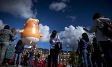 """دمية ترامب """"الرضيع"""" في سماء كوبنهاغن"""
