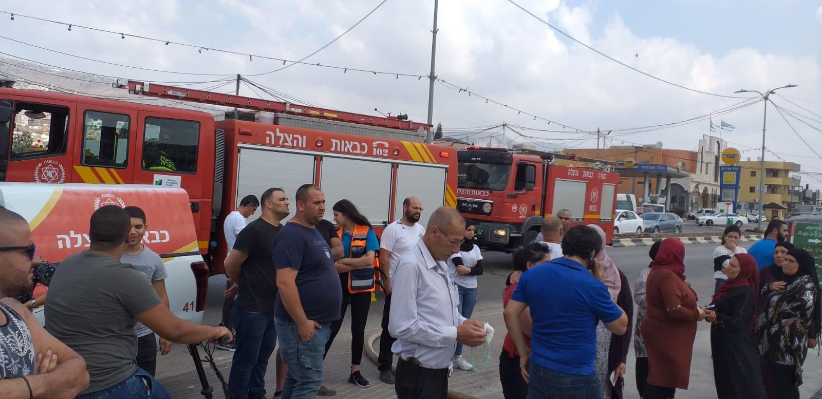 مجد الكروم: حريق في محل تجاري