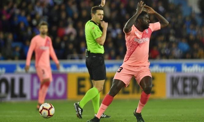 أومتيتي يرد على إمكانية رحيله عن برشلونة