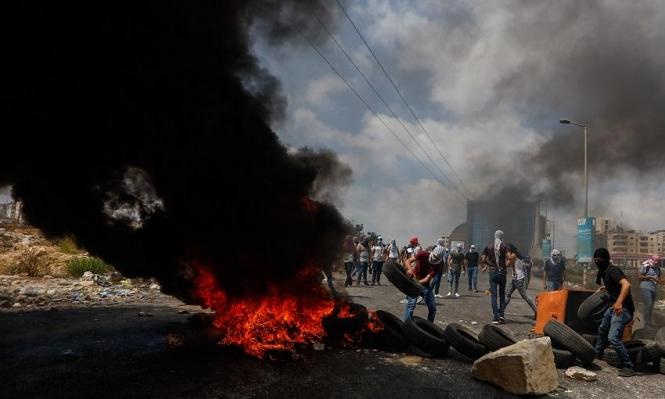 البيرة: إصابة خطيرة لشاب خلال مواجهات بين الاحتلال ومتظاهرين