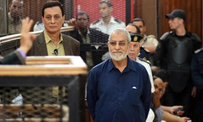 """المؤبد لبديع والشاطر والبلتاجي وآخرين بتهمة """"التخابر مع حماس"""""""