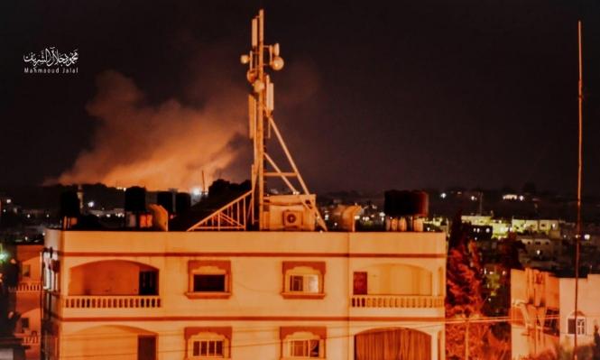 طيران الاحتلال يقصف في بيت لاهيا