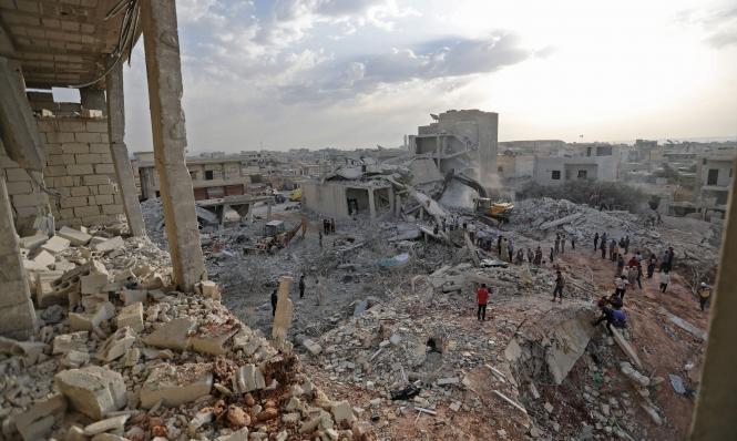 النظام السوري يغير على إدلب رغم وقف إطلاق النار