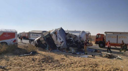 النقب: إصابتان خطيرتان بحادث طرق