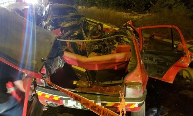 مصرع شخصين وإصابة آخرين بحادث طرق قرب الخليل