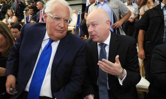 """غرينبلات يبحث في إسرائيل نشر """"صفقة القرن"""""""