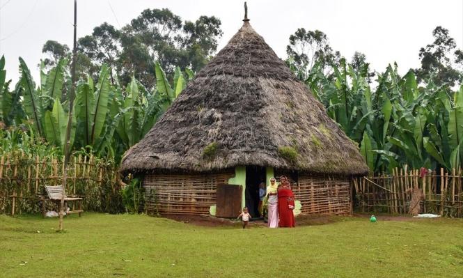 المنازل التقليدية لا زالت تميّز سكان الريف الإثيوبي