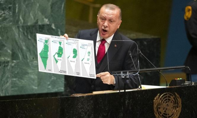 إردوغان يهاجم إسرائيل ويدعو الأمم المتحدة لتطبق قراراتها المتعلقة