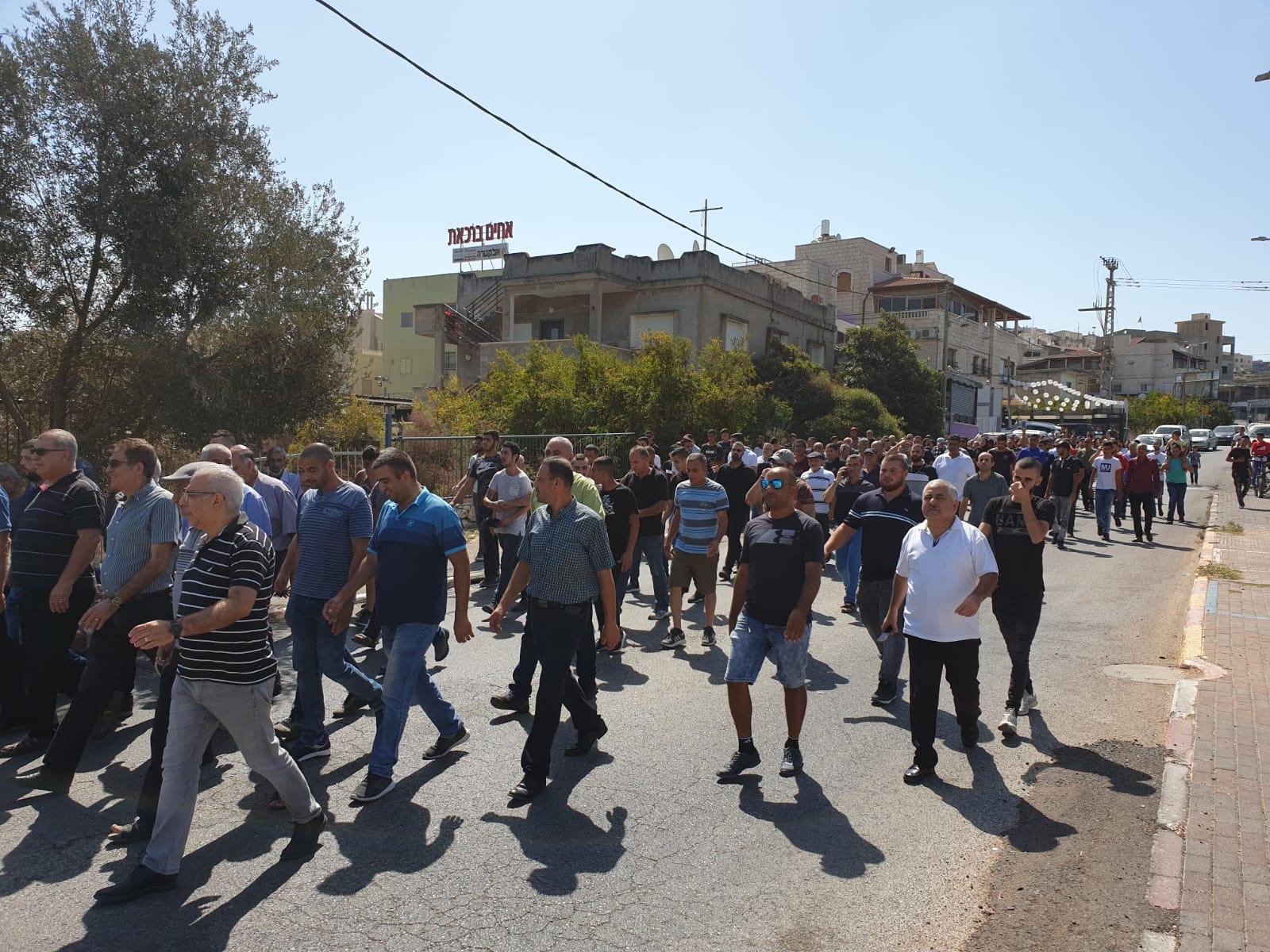 شفاعمرو: مسيرة جماهيرية نحو المنازل المهدومة