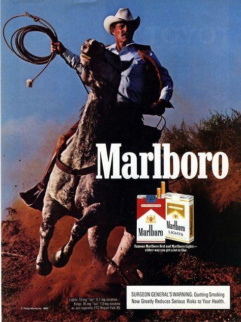 """من دعاية قديمة لشركة """"مارلبورو"""""""