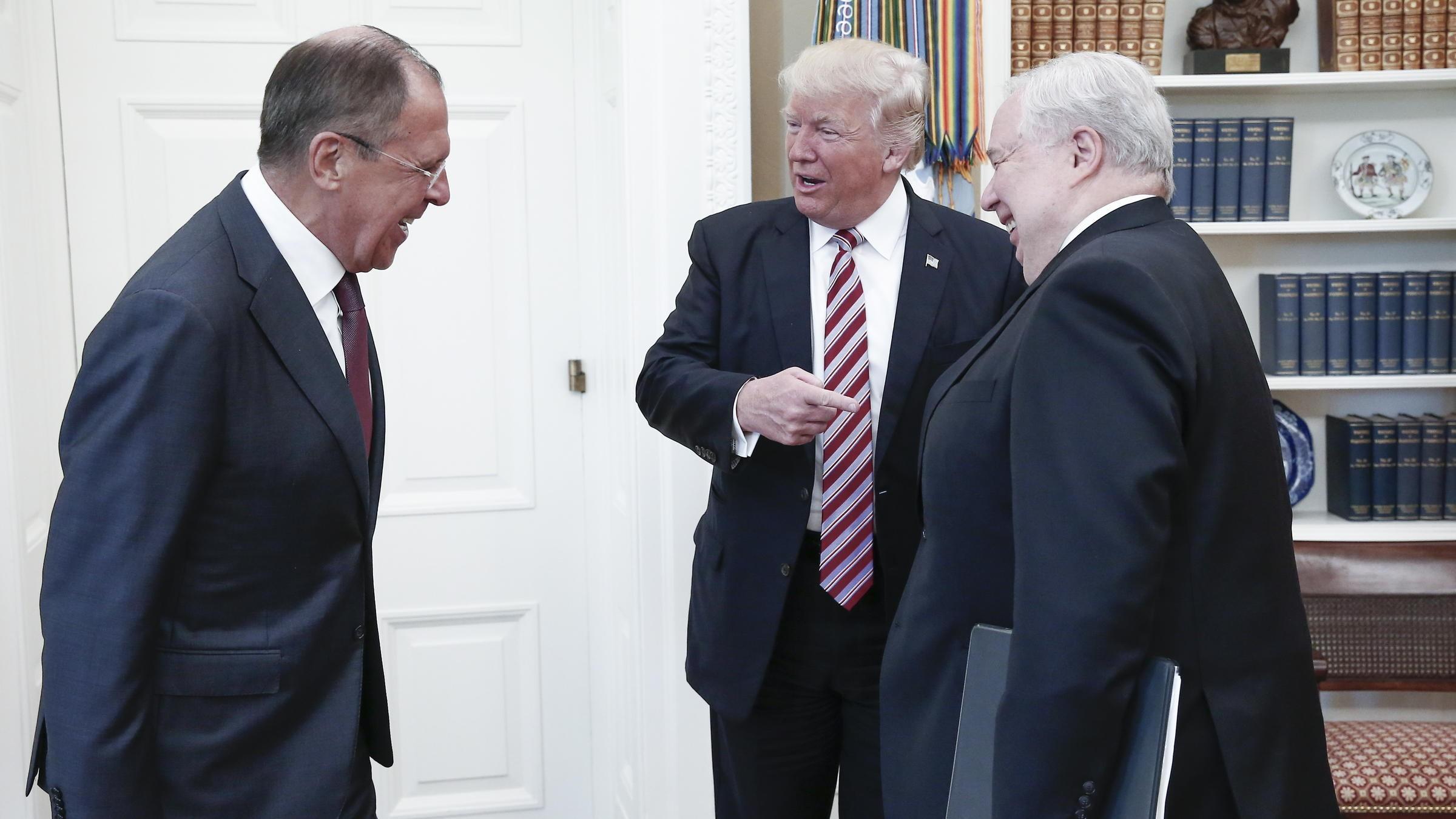 لقاء التسريبات، ترامب ولافروف (أ ب)