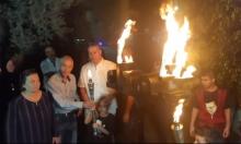 إضاءة شعلة إحياء لذكرى شهداء هبة القدس والأقصى