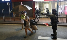 هونغ كونغ: الشرطة تطلق الرصاص الحي لأول مرّة على المتظاهرين