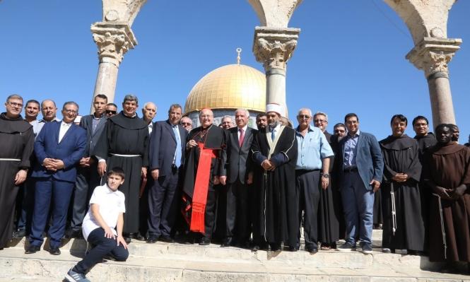 القدس: مبعوث الفاتيكان والأوقاف الإسلامية يحذران من المس بالوضع القائم