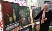فنانة فلسطينية ترسم بالعجين