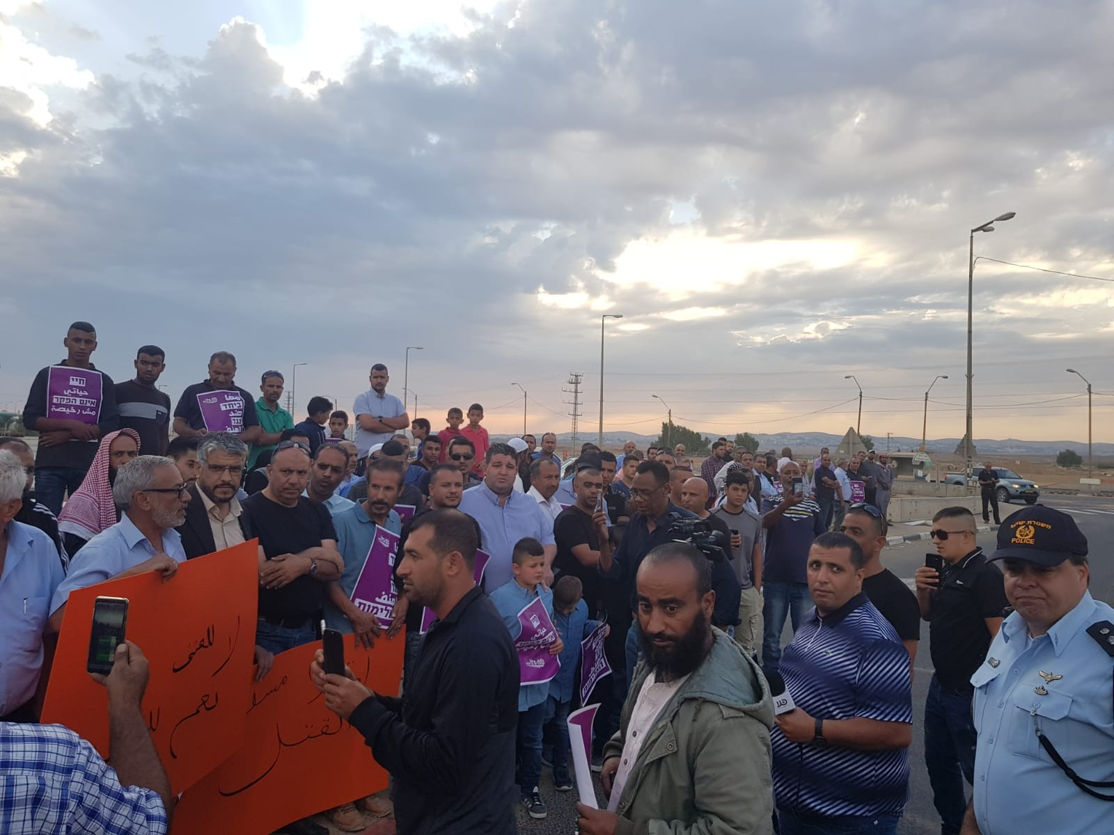 من التظاهرة في النقب (عرب ٤٨)