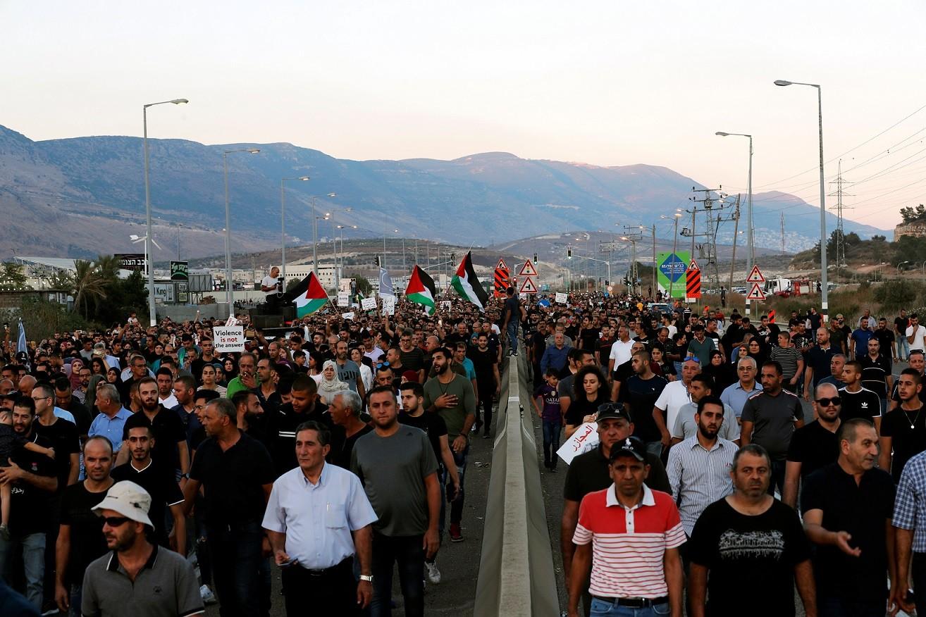 من تظاهرة مجد الكروم (رويترز)