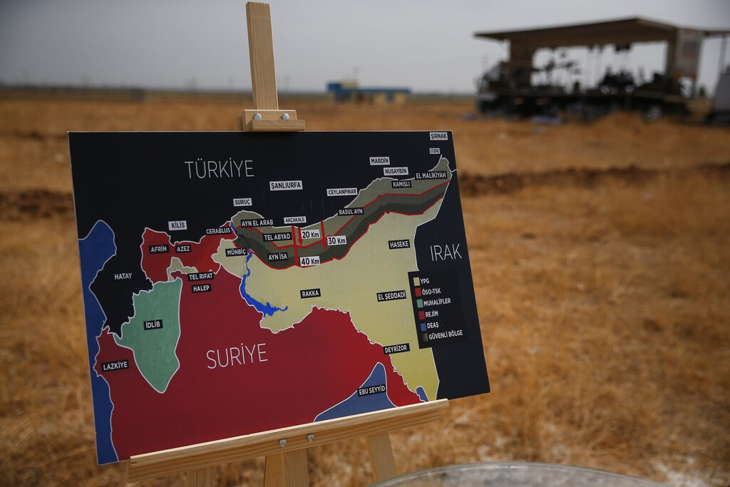 تركيا تسعى لإقامة منطقة آمنة (أ ب)