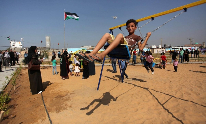 """غزة: """"حديقة العودة"""" تتحدّى الاحتلال بـ""""مسيرات"""" لفرح الطفولة"""