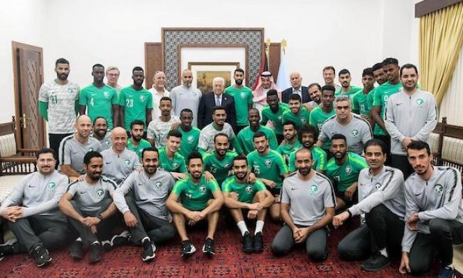 المنتخب السعوديّ يصل الضفة المحتلّة والشّبكة تتفاعَل